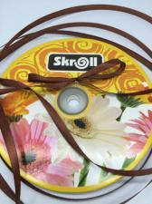 Лента атласная Skroll,6 мм,цвет№ 74 (коричневый)