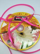 Лента атласная Skroll,6 мм,цвет№ 89 (ярко-розовый)