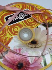 Лента атласная Skroll,6 мм,цвет№ 135 (грязно-розовый)