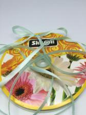 Лента атласная Skroll,6 мм,цвет№ 141 (светло-бирюзовый)