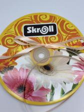 Лента атласная Skroll,6 мм,цвет№ 168 (креветочный)