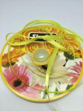 Лента атласная Skroll,6 мм,цвет№ 192 (лимонный)