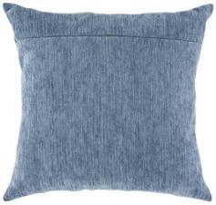 """Обратная сторона подушки """"Голубая сталь""""."""