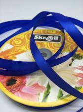 Лента атласная Skroll,12 мм,цвет№ 40 (василёк)