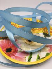 Лента атласная Skroll,12 мм,цвет№ 62 (голубой)