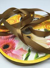 Лента атласная Skroll,12 мм,цвет№ 162 (серо-коричневый)