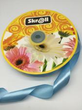 Лента атласная Skroll,25 мм,цвет№ 62 (голубой)