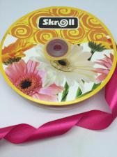Лента атласная Skroll,25 мм,цвет№ 72 (малиновый)