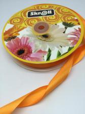 Лента атласная Skroll,25 мм,цвет№ 151 (оранжевый)