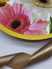 Лента атласная Skroll,25 мм,цвет№ 180 (коричневый, светлый)