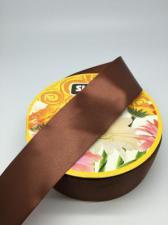 Лента атласная Skroll,50 мм,цвет№ 74 (коричневый)