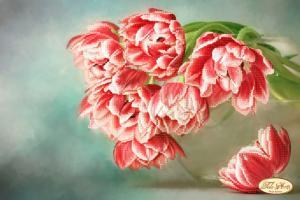 Бокэ.Тюльпаны Андорра. Размер - 36 х 24 см.
