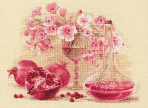 Риолис | Розовый гранат. Размер - 40 х 30 см