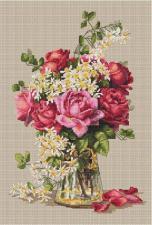 Розы. Размер - 22 х 32 см.