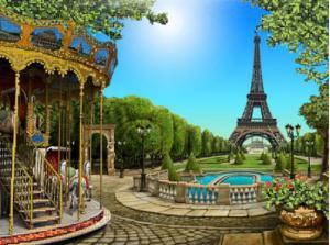Астрея | Схема Эйфелева башня. Размер - 40 х 30 см.