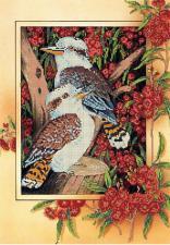 Астрея | Схема Птицы в рябине. Размер - 28 х 40 см.