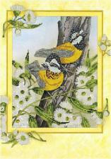 Астрея   Схема Птицы в цветах. Размер - 28 х 40 см.