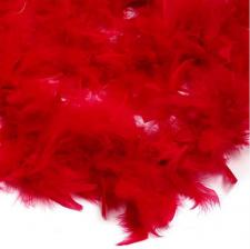 Боа (перо). Цвет-красный