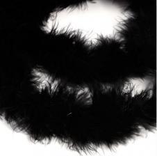 Боа (пух). Цвет-чёрный