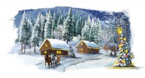 Матрёнин Посад | Рождественская сказка. Размер - 40 х 26 см.