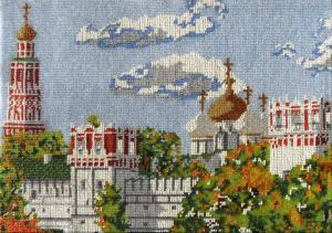 Новодевичий монастырь. Размер - 37 х 26 см.
