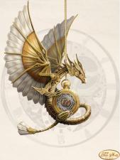 Стимпанк. Дракон. Размер - 24 х 33 см.