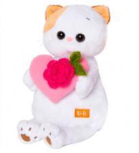 Кошечка Ли-Ли с розовым сердечком.
