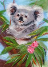 Добродушная коала. Размер - 21 х 30 см.