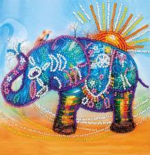 Неоновый слон. Размер - 15 х 15 см.