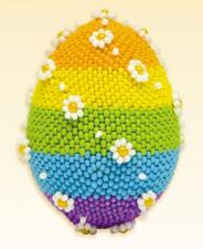 Яйцо пасхальное. Размер - 4,5 х 6,5 см.