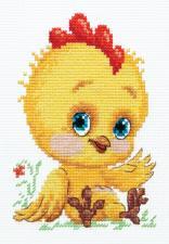 Чудесная игла | Петушок-золотой гребешок. Размер - 10 х 14 см.