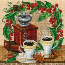 Утренний кофе. Размер - 15 х 15 см.