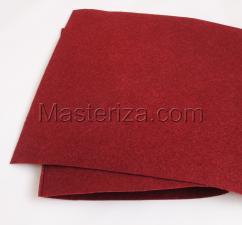 Фетр (бордовый,жёсткий),20 х 30 см,1 мм