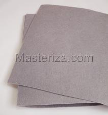Фетр (св.серый,жёсткий),20 х 30 см,1 мм