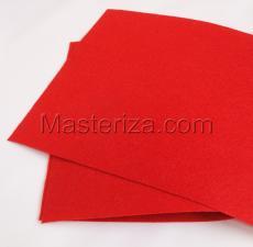 Фетр (красный,жёсткий),20 х 30 см,1 мм