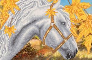 Белая лошадь. Размер - 37 х 25 см.