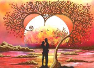 Дерево любви. Размер - 36 х 26 см.