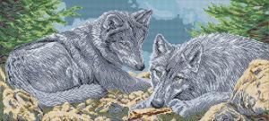Арт Соло | Волки (полная зашивка). Размер - 55 х 25 см.