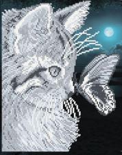 Арт Соло | Кот с бабочкой. Размер - 19 х 24,1 см.