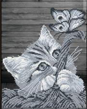 Арт Соло | Котёнок в корзинке. Размер - 19 х 24,1 см.