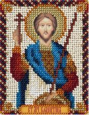 Икона Св.муч. Валентин Доростольский. Размер - 8,5 х 11 см.