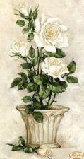 Белые розы. Размер - 24 х 45 см.