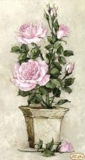 Розовые розы. Размер - 24 х 45 см.