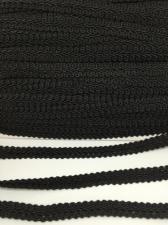 Тесьма Шанель,10 мм,цвет 322 (чёрный)