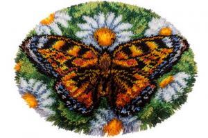 "Коврик ""Бабочка"". Размер - 58 х 43 см."
