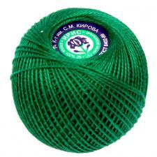 """Нитки для вязания """"Ирис"""". Цвет 4110 ярко-зелёный"""