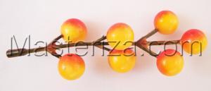 Гроздь рябины жёлто-красная декоративная,1 шт.