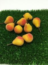 Груша жёлто-красная в сахаре декоративная,25 мм,1 шт.