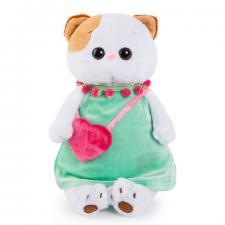 Кошечка Ли-Ли в мятном платье с розовой сумочкой.