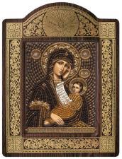 """Киот Образ Пресвятой Богородицы """"Утоли моя печали""""."""